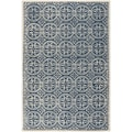 Safavieh Cambridge Navy Blue/Ivory Rug; 6' x 9'