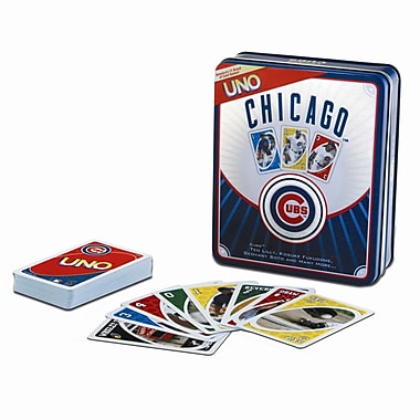 Fundex Games MLB UNO Card Game; Chicago Cubs