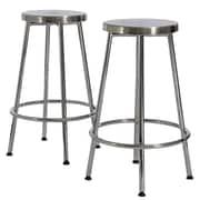Home Loft Concept Wilkerson Chrome Barstools (Set of 2) (Set of 2)