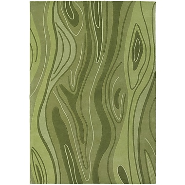 Chandra Inhabit Designer Olive Area Rug; 5' x 7'6''