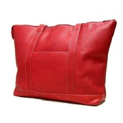 Le Donne Leather Double Strap Medium Pocket Tote Bag; Red