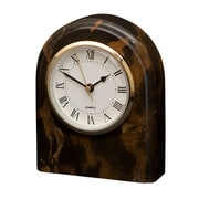 Designs By Marble Crafters Polaris Clock; Black and Gold Marble