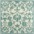 Safavieh Modern Art Ivory / Light Blue Rug; Square 7' x 7'
