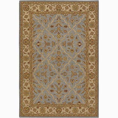 Chandra Pooja Baktiari Brown/Blue Area Rug; 2' x 3'
