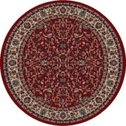 Concord Gem Kashan Red Area Rug; Round 5'3''