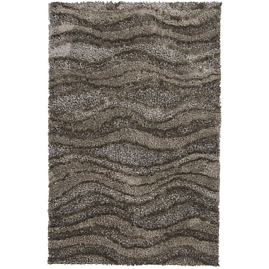 Chandra Areva Shag Brown/Tan Area Rug; 5' x 7'6''