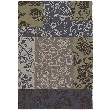Chandra INT Floral Swirls Area Rug; 9' x 13'
