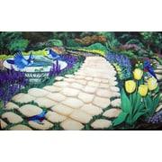 Custom Printed Rugs Garden Path Doormat