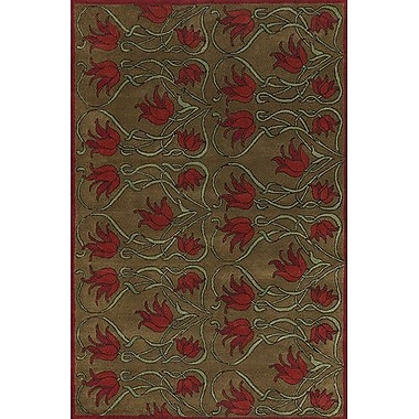 Chandra Fresca Brown/Tan Area Rug; 2' x 3'