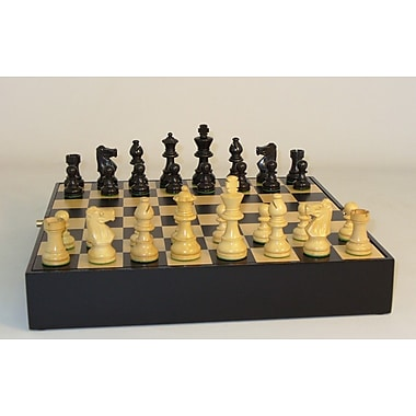 WorldWise Chess Black French in Chest Chess Set