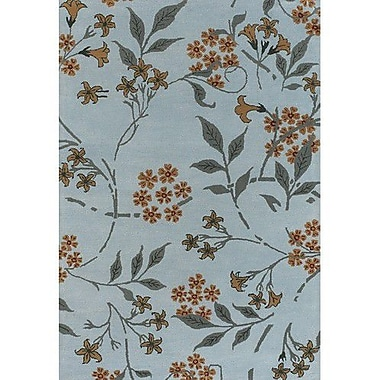 Chandra Douglas Blue Area Rug; 2' x 3'