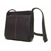 Le Donne Leather Exterior Zip Pocket Women's Shoulder Bag; Caf