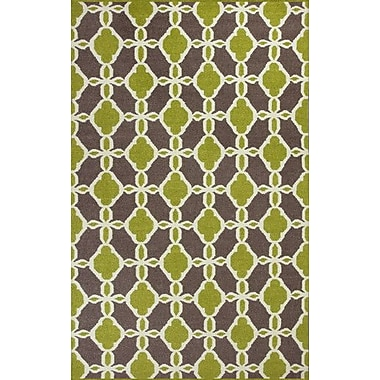 KAS Rugs Solstice Citron/Taupe Serenity Area Rug; 2'3'' x 3'9''