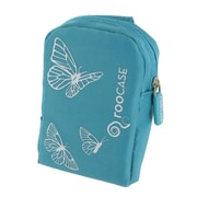 rooCASE Fashion Nylon Padded Carrying Case; Butterfly Blue
