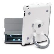 Sumdex SpinWork Quick Stand Sleeve for iPad2; White / Grey