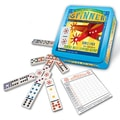 Puremco Dominoes Double 9  Domino Game Set Plus Wild Spinner Tiles