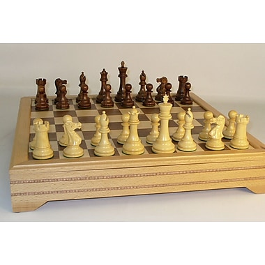 WorldWise Chess Sheesham British with Chest Chess Set