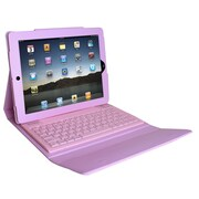 Ovente Beatech KPC1B iPad case with Bluetooth Keyboard ; Pink