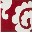 Safavieh Modern Art Red / Ivory Original Rug; Square 7' x 7'