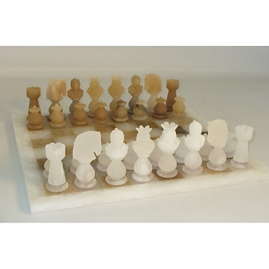 Scali Transparent Chess Set in Brown / White