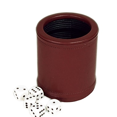 Sunnywood Leather Dice Cup with Five Dice