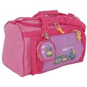 Mercury Luggage Going to Grandma's Children's Duffel Bag; Pink/dark pink trim