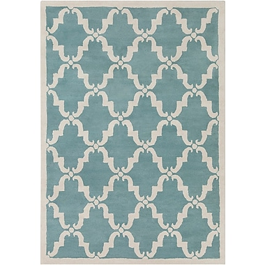 Chandra Davin Moroccan Pattern Blue Area Rug; 5' x 7'