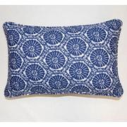 Dakotah Pillow Seabreeze Corded Cotton Lumbar Pillow (Set of 2); Indigo