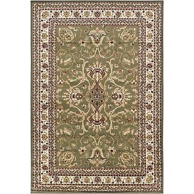 Chandra Taj Green/Tan Area Rug; 4' x 6'