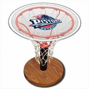 Spalding NBA Table with Decal; Detroit Pistons