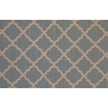 Meva Rugs Flat Weave Sky Gray/Brown Area Rug; 8' x 11'