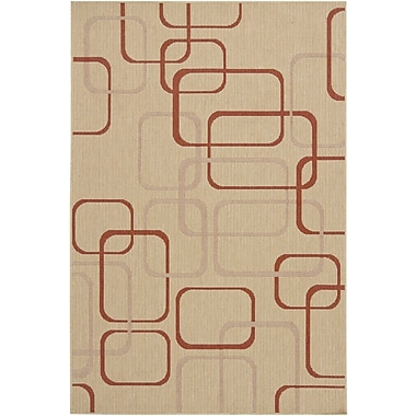 Chandra Ryan Beige Geometric Indoor/Outdoor Area Rug; 5' x 8'