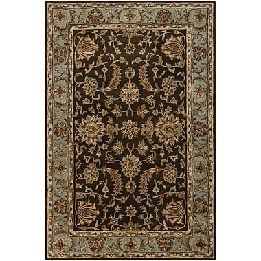 Chandra Rupec Brown/Tan Abstract Area Rug; 7'9'' x 10'6''