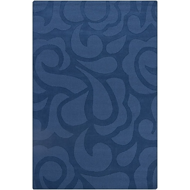 Chandra Ast Blue Floral Area Rug; 5' x 7'6''