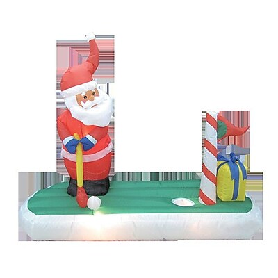 BZB Goods Christmas Inflatable Santa Claus Play
