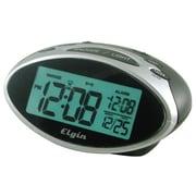 Geneva Clock Elgin 1.3'' LCD Display Date and Indoor Temperature Alarm Clock