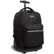 J World Sunrise Rolling Backpack; Black
