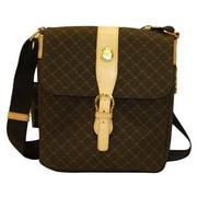 Rioni Signature Messenger Bag; Brown
