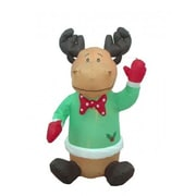 BZB Goods Christmas Inflatable Cute Sitting Reindeer Decoration