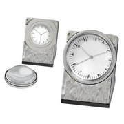 Chass Silver Hammered Clock with Magnifier