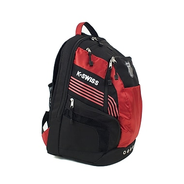 K Swiss Unisex Medium Training Backpack; Black/Formula one