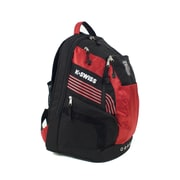 K Swiss Unisex Medium Training Backpack; Black/Formula one