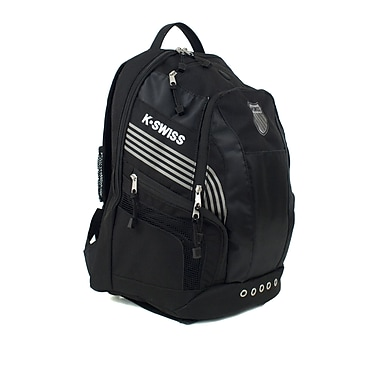K Swiss Unisex Medium Training Backpack; Black/Black