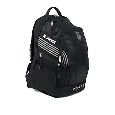 K Swiss Unisex Medium Training Backpack; Black/Black