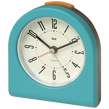 Bai Design Designer Pick-Me-Up Alarm Clock; Aqua