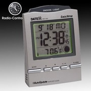 Datexx Radio Control Desk Alarm Clock with Calendar, Moon Phase
