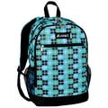 Everest Compartment Casual Backpack; Turquoise Black Plaid