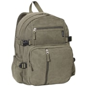 Everest Cotton Canvas Backpack; Olive