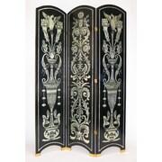 Wayborn 78'' x 54'' Arched Grecian 3 Panel Room Divider; Silver