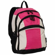 Everest Kids Deluxe Backpack; Raspberry / Beige / Black